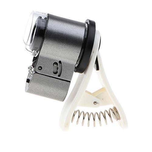 Homyl 65 X Vergrößung Objektiv Linse Telefon Kamera Optische LED Clip Lupe Mikroskop Mikrolinse