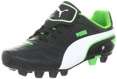 Puma Unisex-Kinder Esito Finale r HG Jr Sportschuhe-Fußball, Schwarz (Black-White-Fluro Green 06) 37 EU