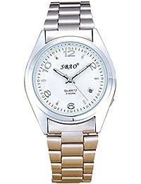 Disfrutar de pulsera Relojes Cronógrafo Automático resistente al agua reloj deportivo para vacaciones de verano playa Sport manecillas luminiscentes. Reloj Acero Inoxidable Pulsera Color