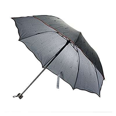 58d9e16afbe1 FabSeasons Blue Striped 3 Fold Fancy Umbrella for All Weather