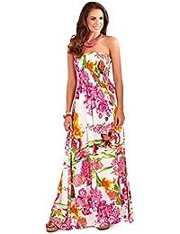Martildo Fashion, Bustier Pour Dames Tropical Robe Longue Fleurs