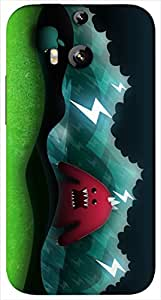Timpax protective Armor Hard Bumper Back Case Cover. Multicolor printed on 3 Dimensional case with latest & finest graphic design art. Compatible with HTC M8 Design No : TDZ-24651