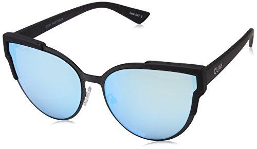 Quay Eyewear Damen Sonnenbrille Game ON, Schwarz (Black/Blue), 142