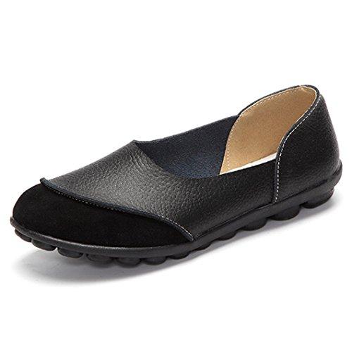 Damen Mokassin,Mode Bootsschuhe Casual Leder Loafers Elastisch Bequem Fahren Flache Schuhe Halbschuhe Slippers Erbsenschuhe Schn/ürschuhe TWBB