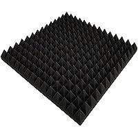 mousse, insonorisante, panneau acoustique mousse insonorisante ,80 plaques 50x50x5 = 20 m², cm anthracite noir