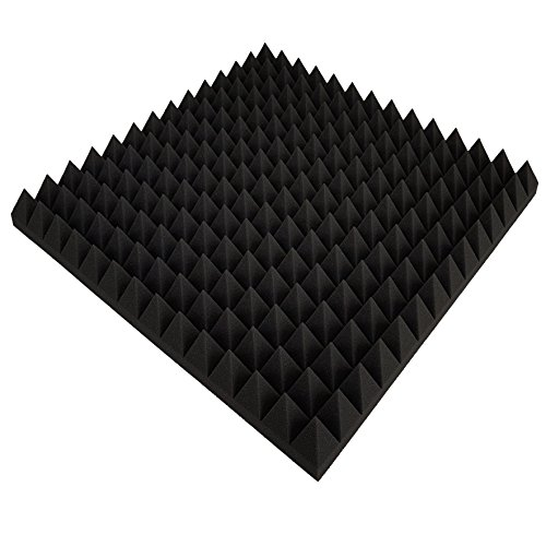 Preisvergleich Produktbild 4 Platten Akustikschaumstoff ca. 50x50x5cm, anth/schwarz Schaumstoff Noppenschaum