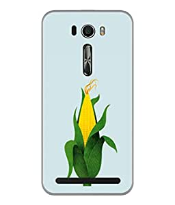 PrintVisa Designer Back Case Cover for Asus Zenfone Selfie ZD551KL (The Maize Corn In Blue Background)