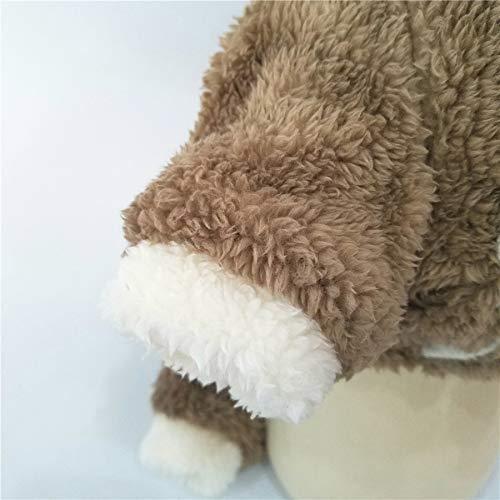 Ropa Artículos para mascotas Varios Perro para mascotas Navidad Elk Abrigo de vellón coral de cuatro patas Osito de peluche Nueva ropa gruesa para perros Otoño e invierno (Color: Café, Tamaño: M) Capa