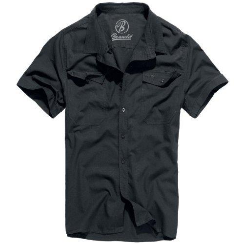 Grau Kariert Shorts (Brandit Bandit Hemd Roadstar Schwarz Uni XXL)