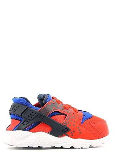 Nike - Huarache Run Print (Td), Scarpe sportive Unisex – Bimbi 0-24 Arancione/nero-blu-bianco (Lt Crimson/Obsidian-Rcr Bl-Wht)
