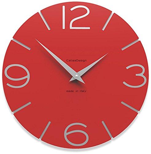 Calleadesign - Horloge murale Smile, rouge feu