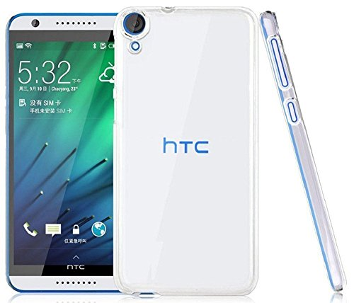 Heartly Imak Crystal Clear Hot Transparent Flip Thin Hard Bumper Best Back Case Cover For HTC Desire 820 820Q Dual Sim