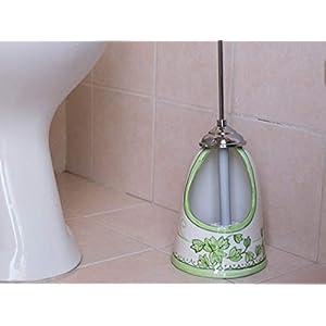 Handbemalter Toilettenbürstenhalter aus Keramik