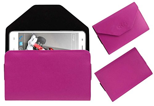 Acm Premium Pouch Case For Xolo Q3000 Flip Flap Cover Holder Pink  available at amazon for Rs.179