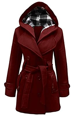 Candy Floss LADIES HOODED BELTED FLEECE JACKET WOMENS COAT TOP PLUS SIZES 8 TO 26