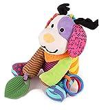 Baby Kinderwagen Spielzeug Spieltier Motorikspielzeug zum Aufhängen mit Beißring und Greiflinge zum Greifen für Babys und Kleinkinder ab 0 Monat, Hirsch