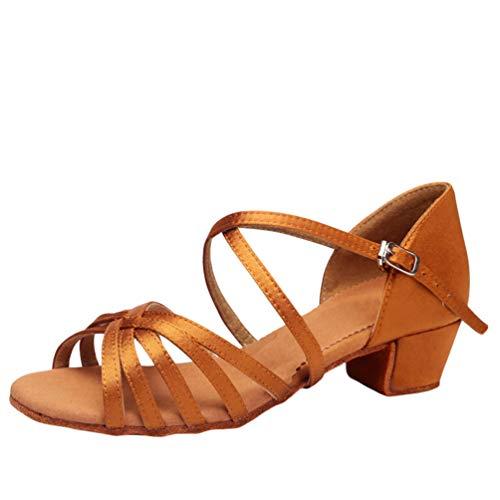 LaoZan Damen Mädchen Kleinkind Kinder Salsa Tanzschuhe Latein Tango Tanz Pumps Sandalen Party Schuhe (Wie das Bild#1, Größe 33)