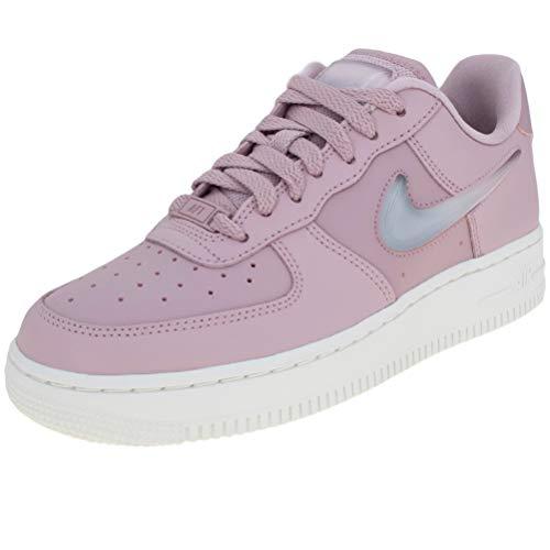 30d4cebf6934 Nike W AIR Force 1  07 SE PRM Hypr VLT Mtllc SLVR-CRT