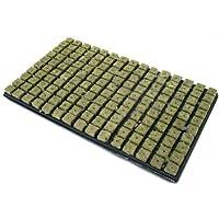 Grodan - Alfombra de cultivo (lana de piedra, 150 bloques de 2,5 x 2,5 cm)