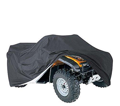 190T durable negro ATV ATC impermeable cubierta universal UV protección impermeable polvo sol a prueba de viento traje para al aire libre todas las condiciones meteorológicas QCZ08