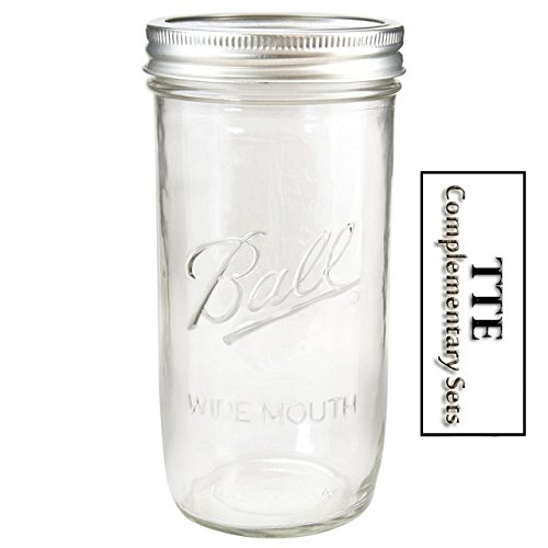 Single 24oz Wide Mouth 1.5 Pint BallÃ'® Mason Jar Canning w/ Lid & Band For Preserving & Freezing by Ball 24 Oz Wide Mouth