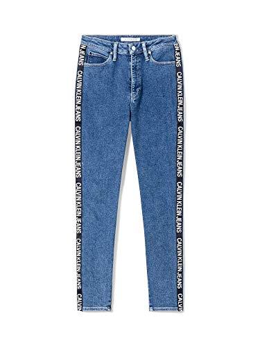 Calvin Klein Jeans High Rise Skinny Ankle W Vaquero Side Stripe Logo