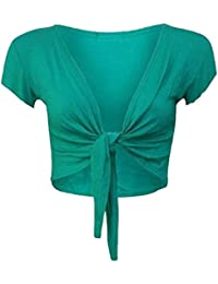 Trendy tie-up pour femme bonnet boléro manches pour femme 36–42 changer le dessus en maille pour fille