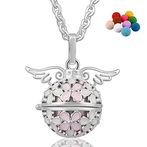 45inch Silber Kette Lucky Blume Eudora Harmony Ball Halskette Anhänger Sie sind mein Engel in meinem Herzen