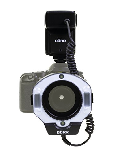 Dörr DMF-15 Makro Ringblitz für Canon Kamera schwarz