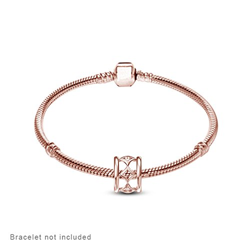 lilu vente bijoux Charms en Argent Sterling 925perle Sapin Bracelet Pandora Rose