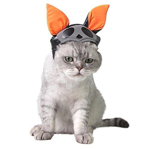 Haustier Hut, Legendog Halloween Haustier Kostüm Katze Ohr Hut Hundekostüm für Partei (Fledermaus Kostüm Hund)