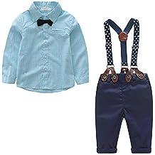 4485de9d8 Yilaku Bebés Juego de Ropa Camisas y Pantalones Conjunto para Bebé Niño