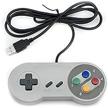 QUMOX Controlador de manivela de juego SNES PC SFC para Windows PC USB Super famicom