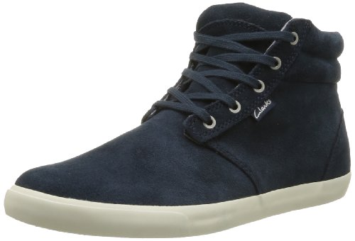 Clarks Torbay Mid, Chaussures montantes homme Bleu (Dark Navy Suede)