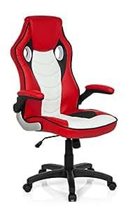 Fauteuil Chaise de bureau Gaming Zone Pro CL100en cuir synthétique Rouge Blanc Ergonomique Accoudoir Sport Siège de Bureau Racing Fauteuil de Bureau de Chaise mybuero 725013