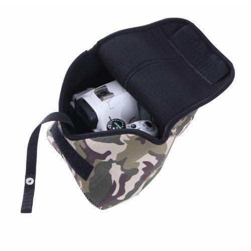 Movo Photo CB70 Neopren-Schutzhülle für DSLR-Kameras (Camouflage) Digitale Slr-holster