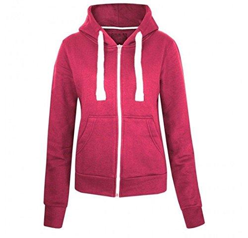 Kids teenager plain coloured zip up hooded sweatshirt hoody