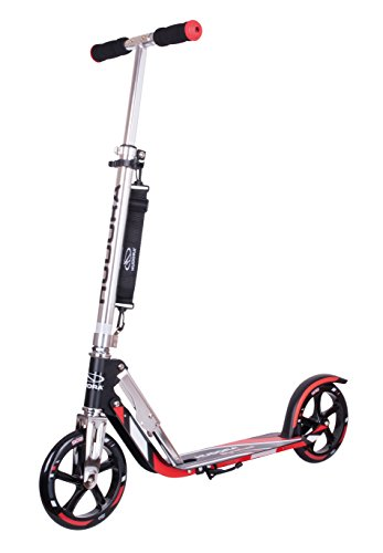 Big Wheel Scooter 205 - Das Original, Tret-Roller klappbar - City-Scooter - 14724, schwarz/rot