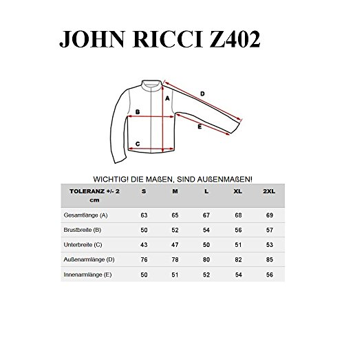 BOLF Herrenjacke Steppjacke Übergangsjacke mit Reißverschluss JOHN RICCI R31 Dunkelblau_Z402
