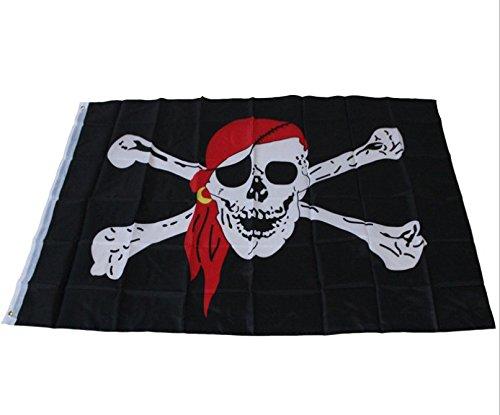 yeah67886Cool Kreuz Knochen Flagge Pirat Skull Totenkopf Flagge Party Zubehör (schwarz) -