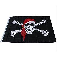 yeah67886Cool Cruz Huesos bandera pirata Calavera bandera Party Accessory (negro)