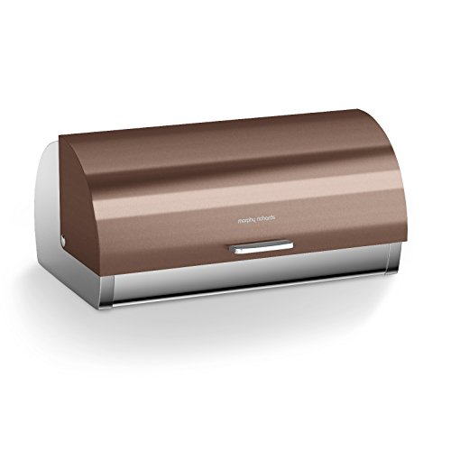 Morphy Richards Accents Bread Bin, Roll Top, Copper