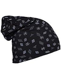 Vimal Jonney Men's Scarf (cap_prt-no.2-blk_01_black_free Size)