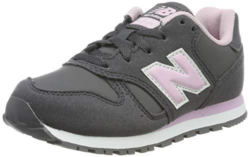 New Balance Mädchen Yc373v1 Sneaker, Grau Grey/Pink, 32.5 EU
