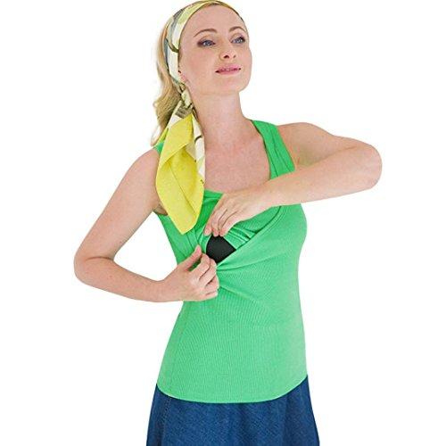 Umstandkeild, Malloom® Mode Sommer Frauen Solid Schwangere Pflege Baby Für Mutterschaft Sleeveless Sport Bluse T-Shirt O-Neck Solid Weste Kleid Top