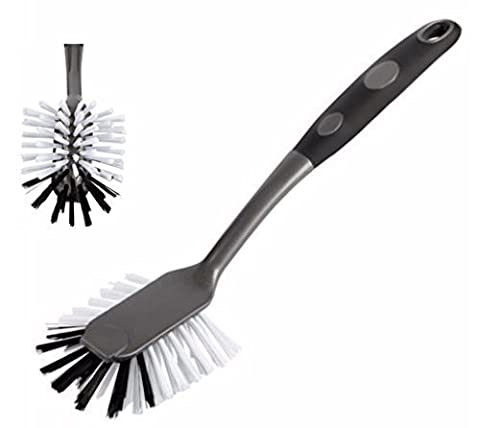 Heavy Duty Round Dish Cleaning Brush - White (Platinum)