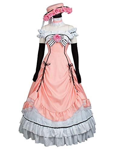 Cosfun Black Butler Ciel Phantomhive Pink Lolita Cosplay Kostüm mp004139 - rosa - Damen Medium