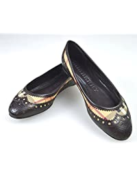 Burberry Scarpa Ballerina Donna Pelle Testa di Moro Art. 3787428 cb7e0b8f783