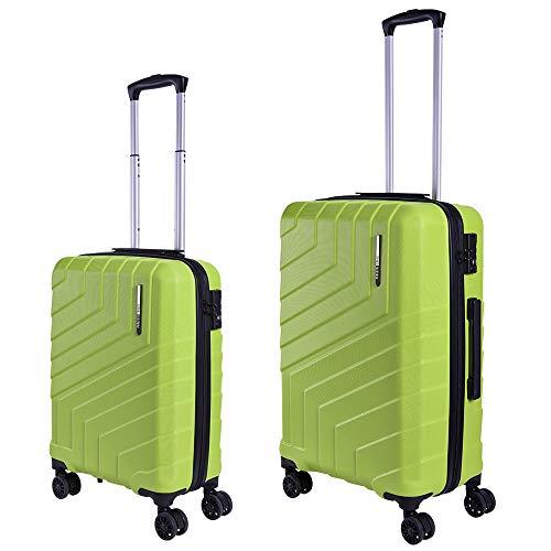Set di Valigie Trolley da Viaggio Rigide - Bagaglio a Mano e da Stiva Ultra  Leggeri 58ee0332fca