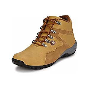 YB Bazaar Men's Synthetic Leather Casual Boot Shoes